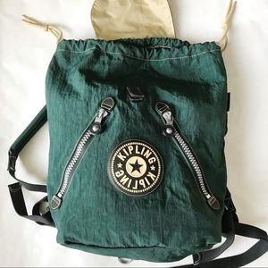 Kipling Bags - Vintage Kipling Green Nylon Backpack